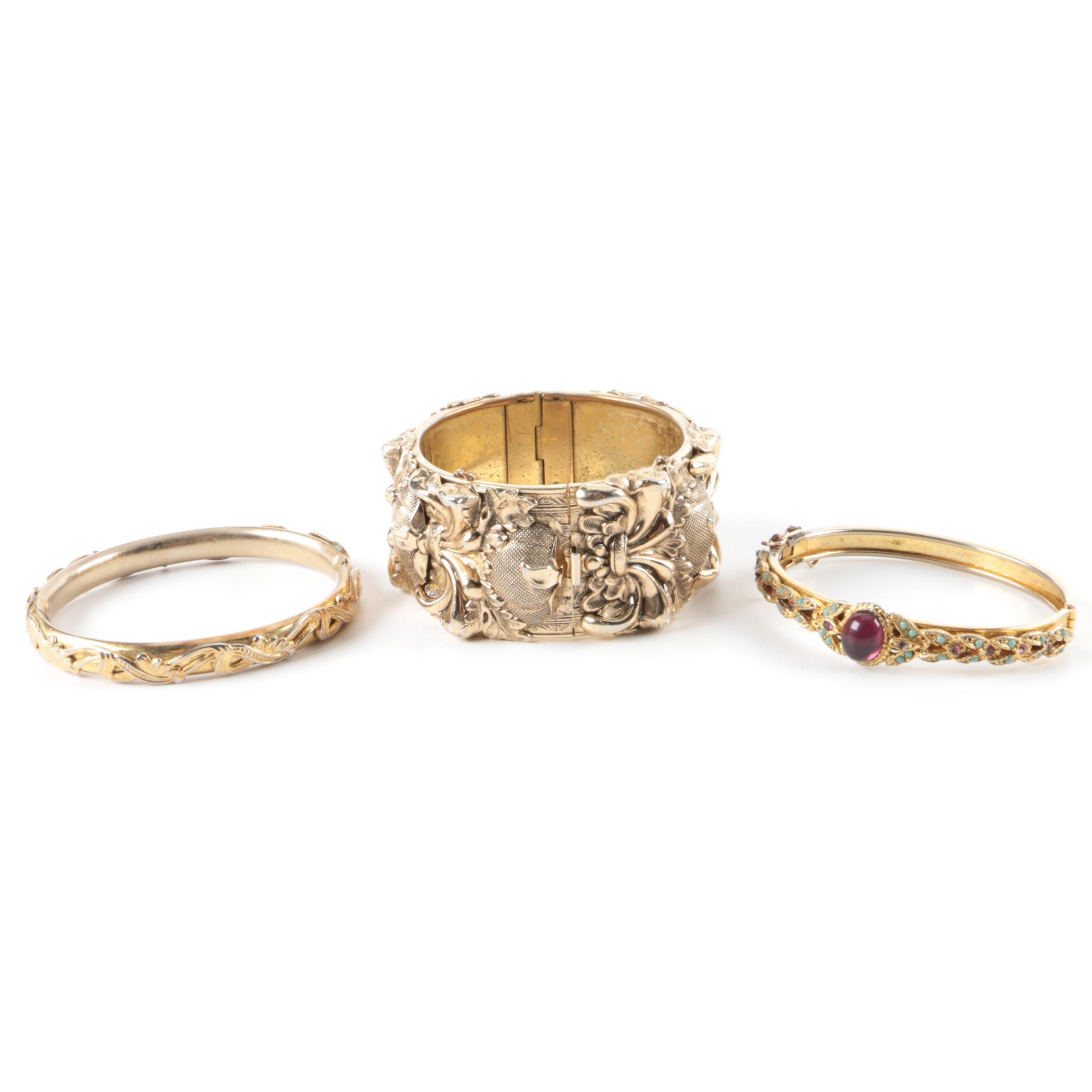 Vintage Gold Tone Bracelet Assortment