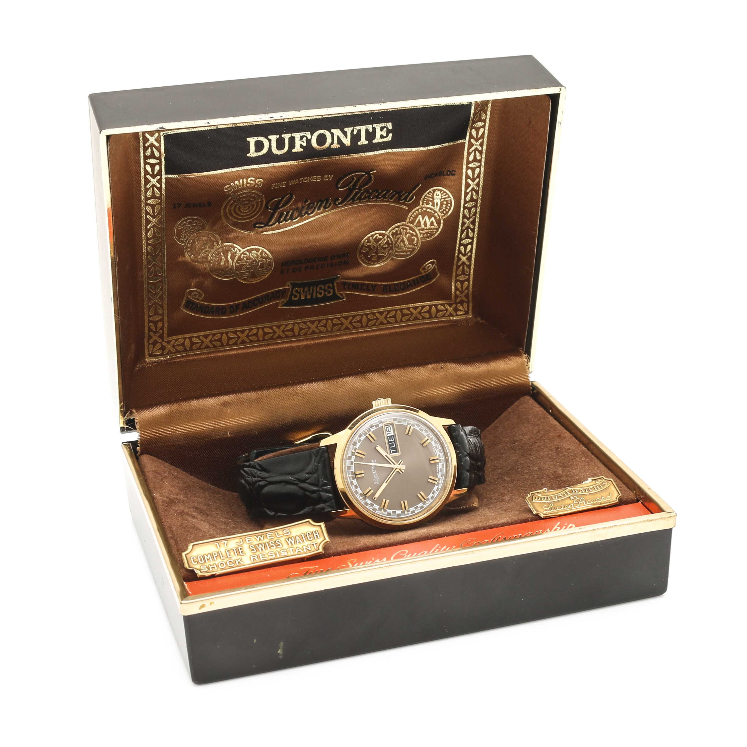 Dufonte by Lucien Piccard Giltron Leather Wristwatch