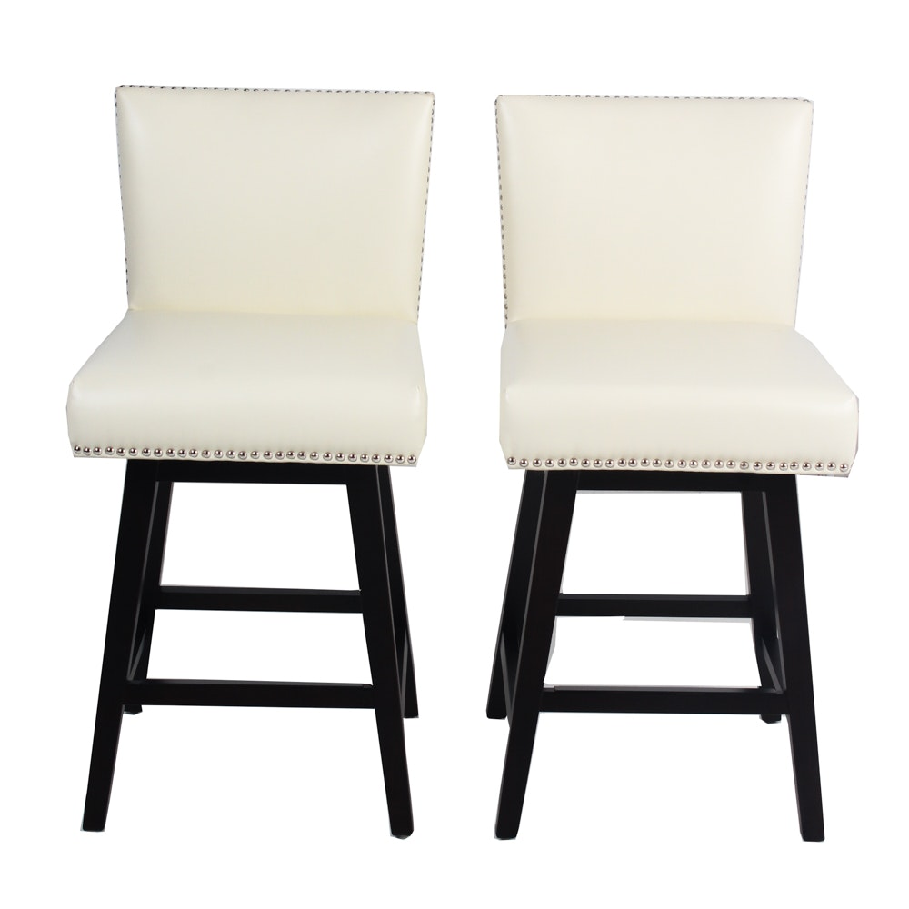 5West Swivel Barstool Pair