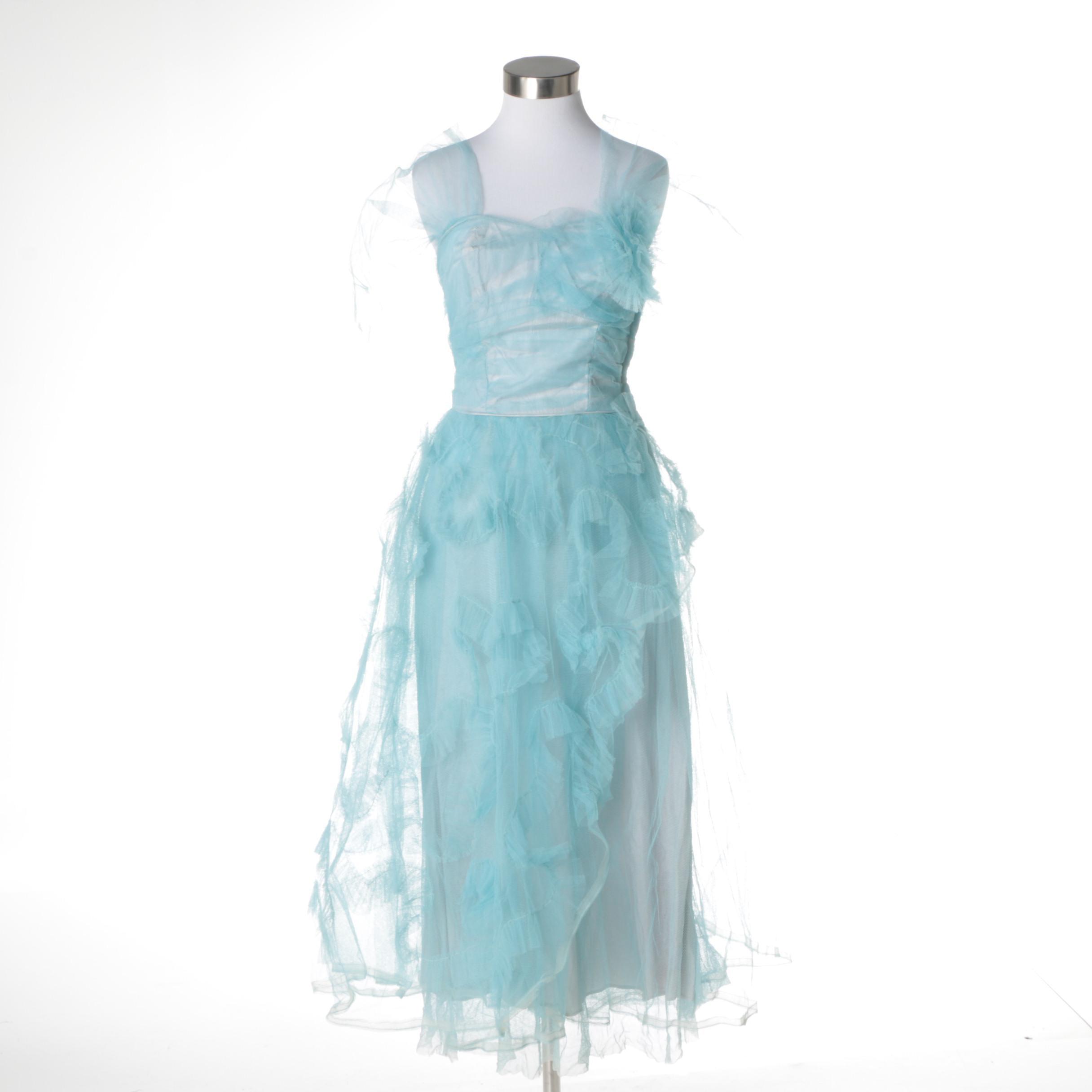 Circa 1950s Vintage Cocktail Dress
