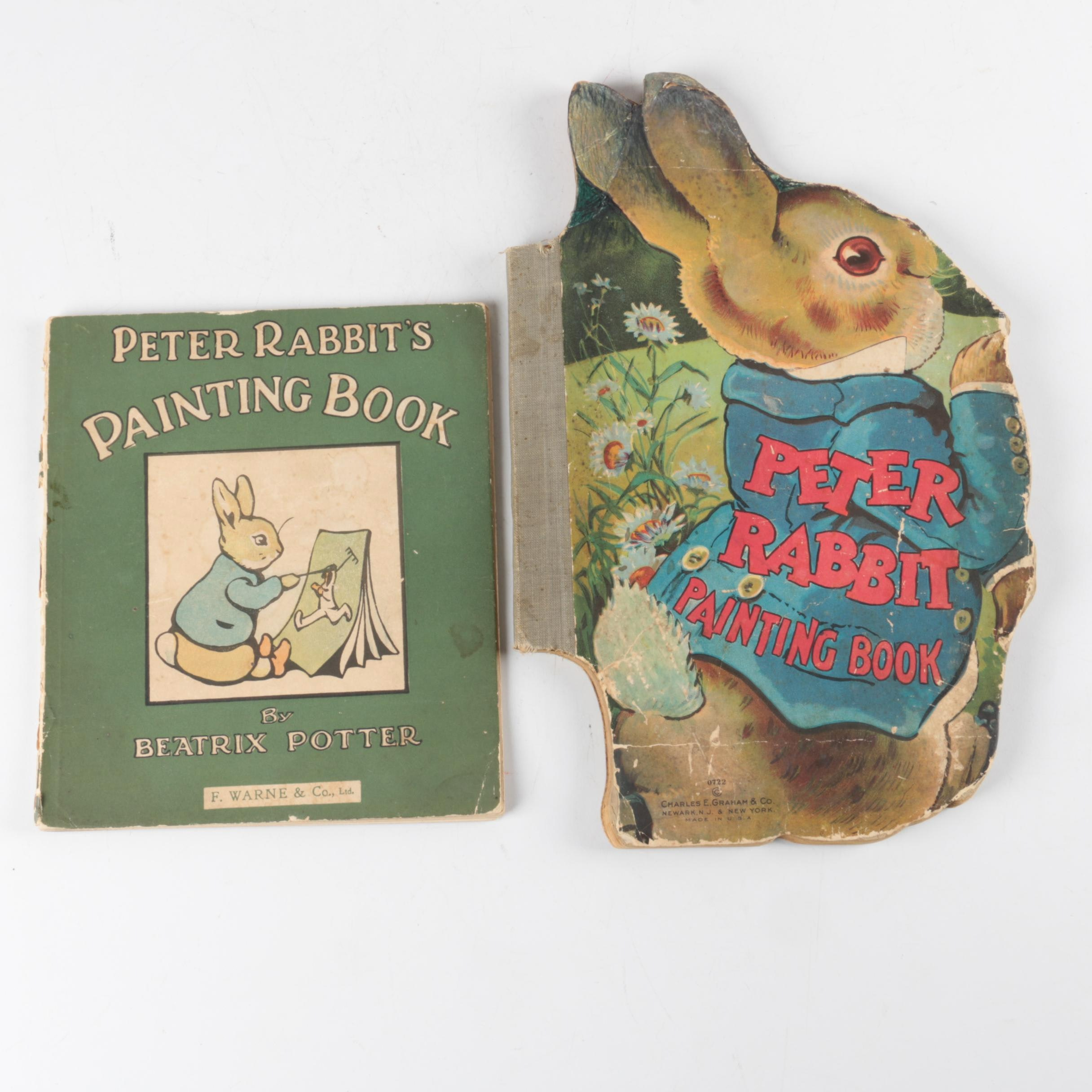 "Pair of ""Peter Rabbit's Painting Book"" by Beatrix Potter"