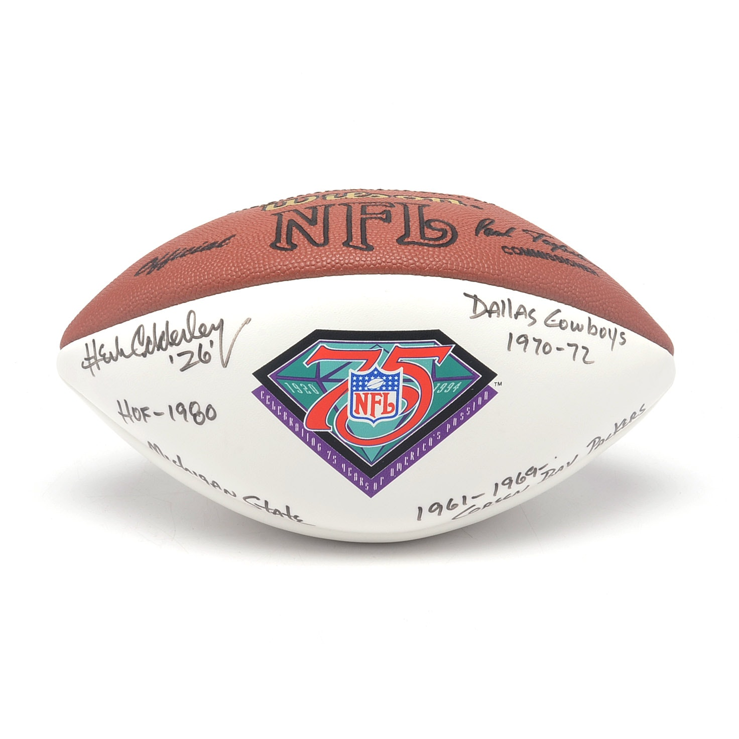 Herb Adderley Autographed Football  COA