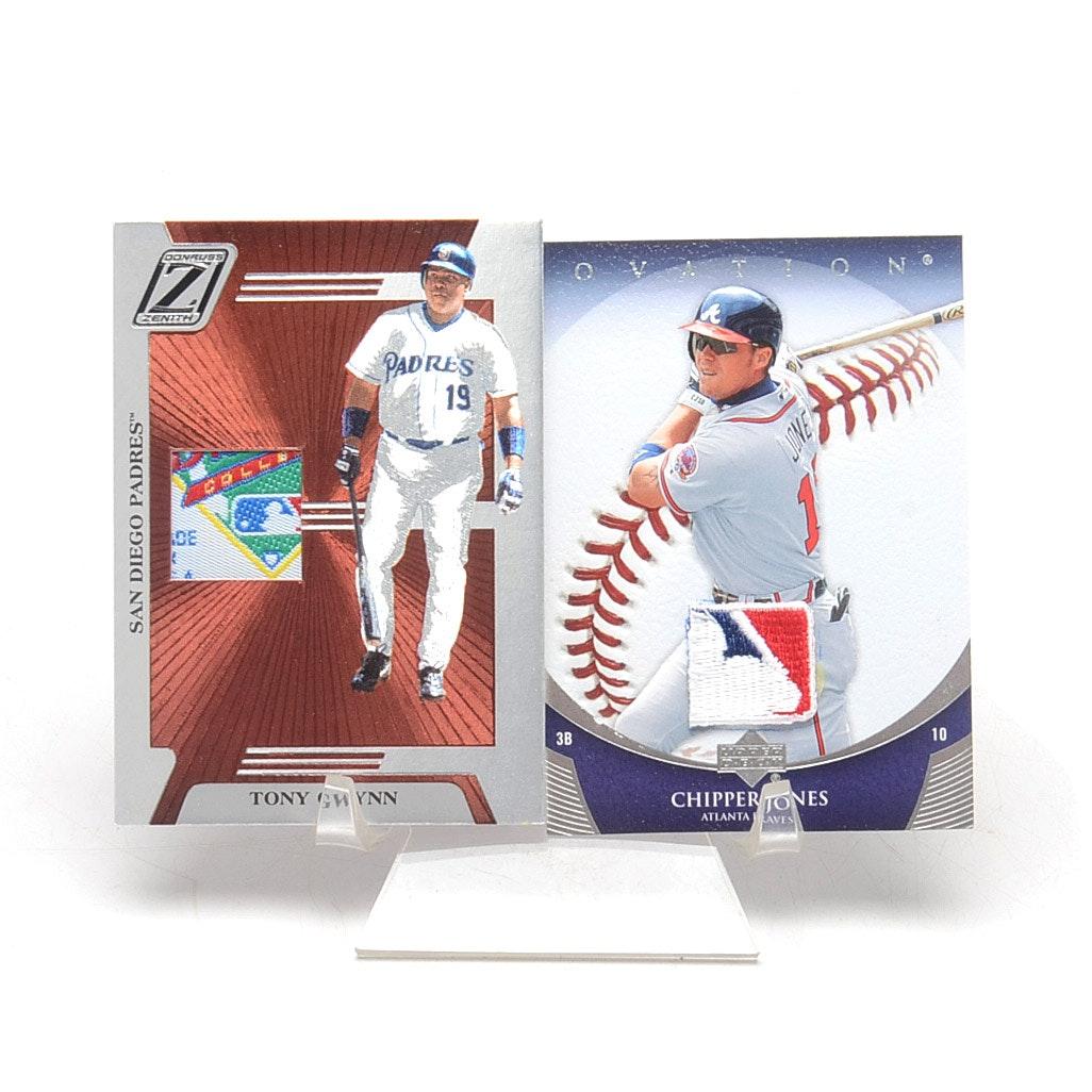 Chipper Jones and Tony Gwynn Relic Baseball Cards