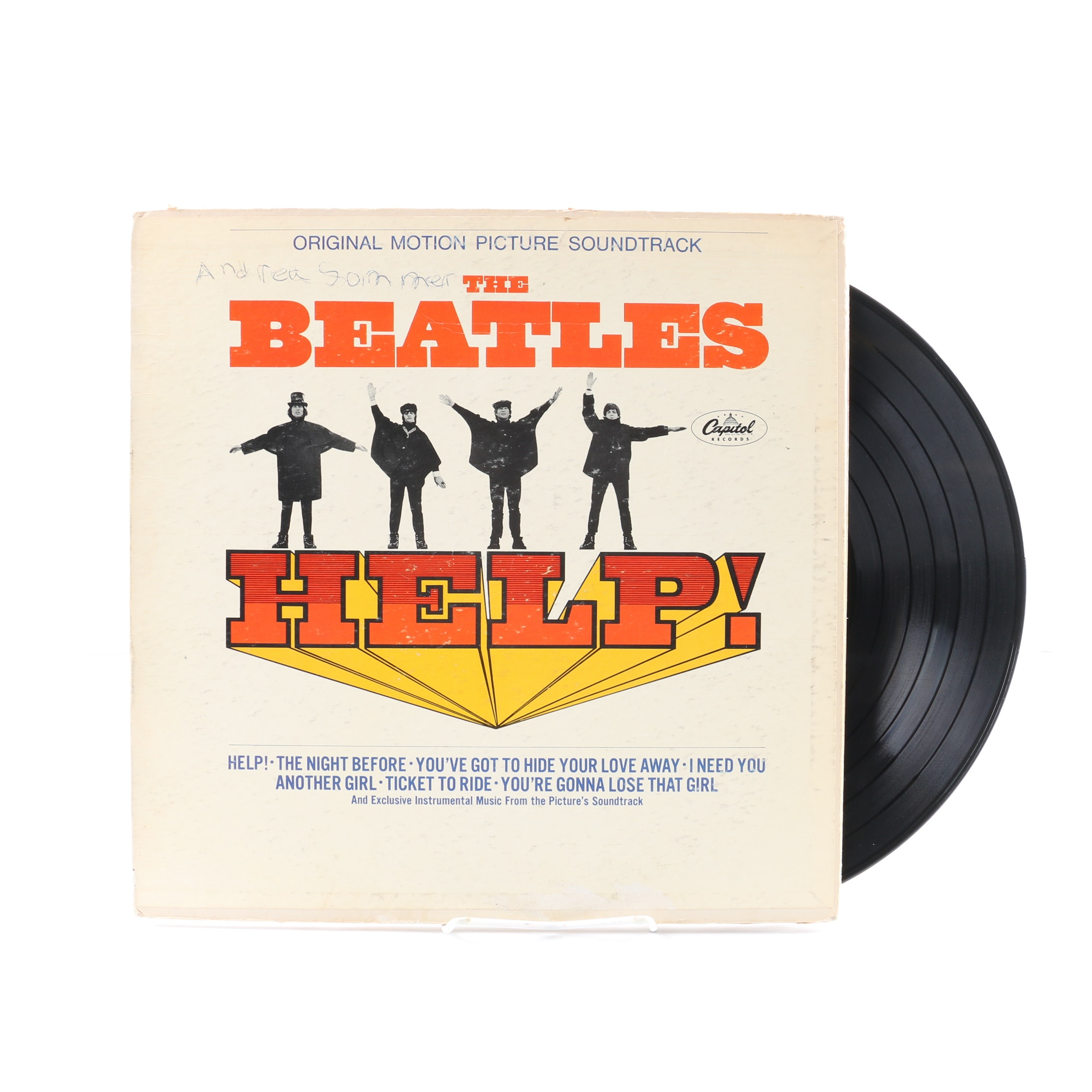 "The Beatles ""Help!"" 1965 US Original Motion Picture Soundtrack"