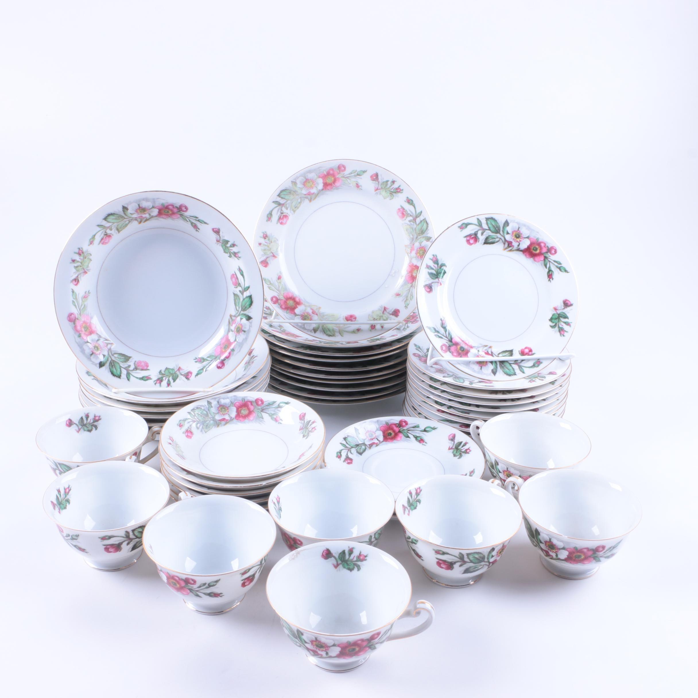 "Vintage Monarch China ""Montana Rose"" Porcelain Tableware"