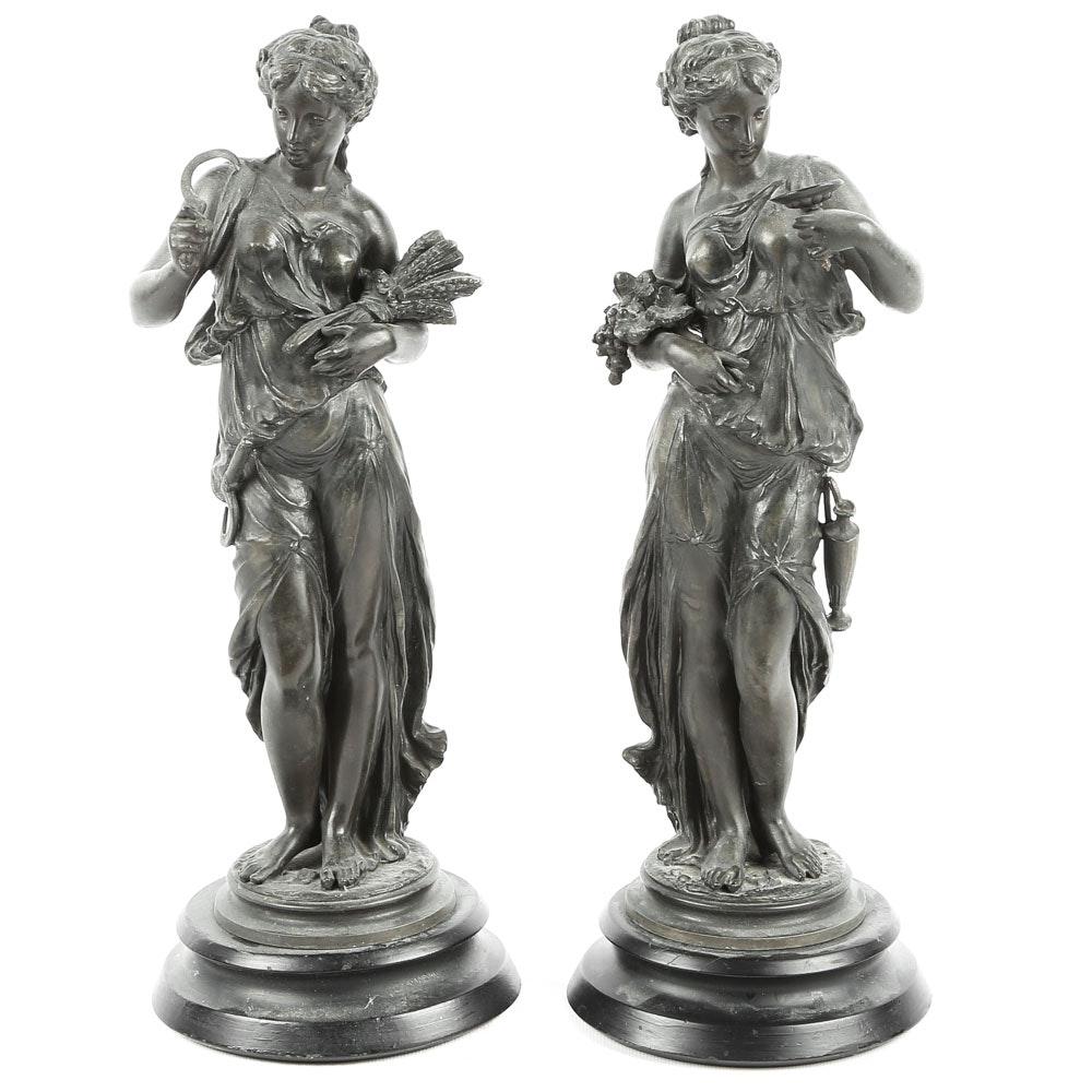 Grecian Goddess Sculptures