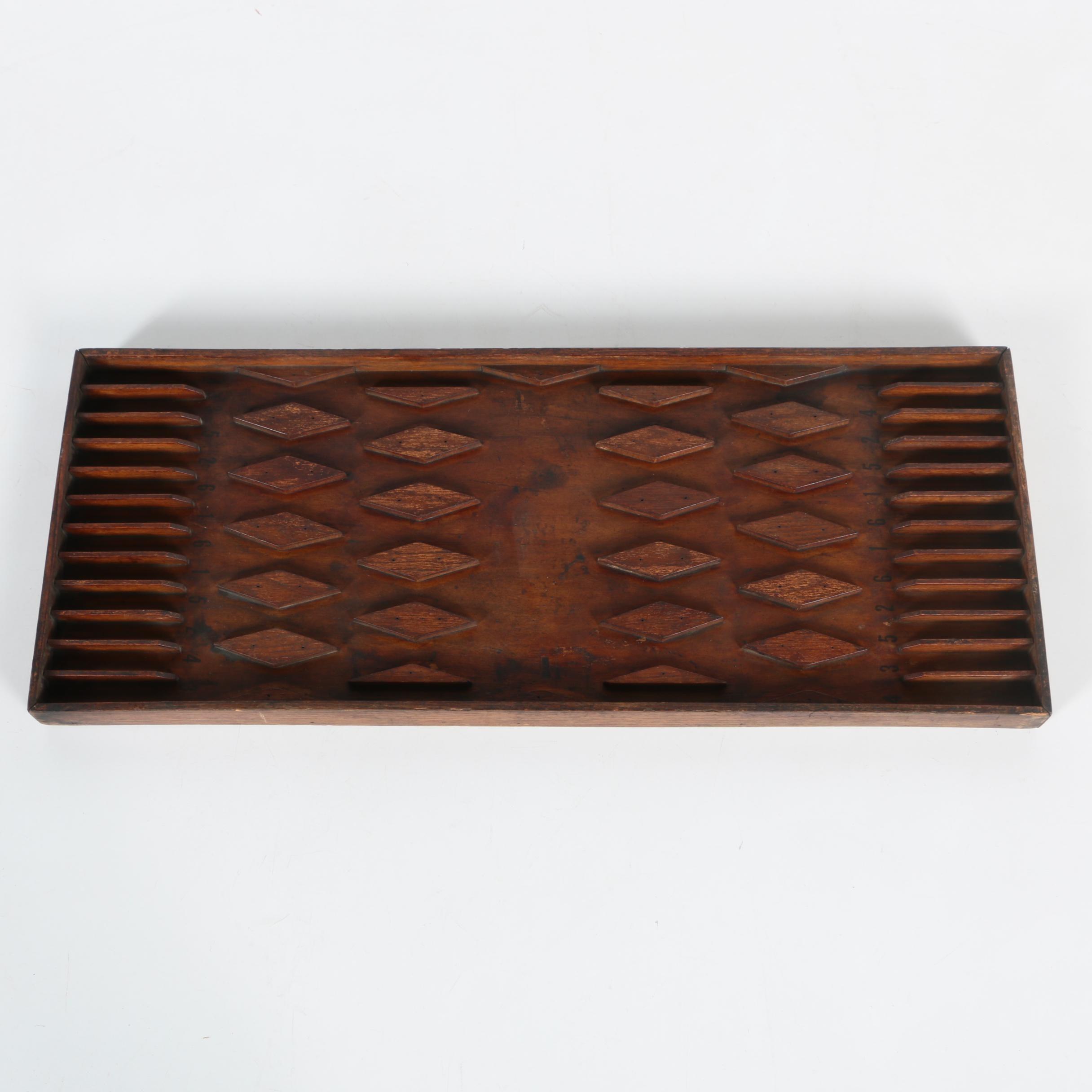Vintage Wooden Pub Game Board