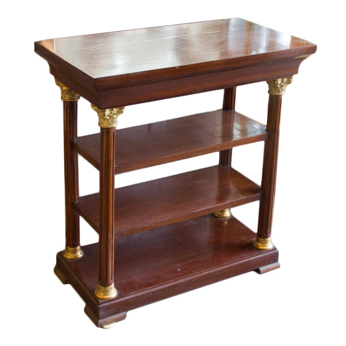 Empire Style Shelved Side Table