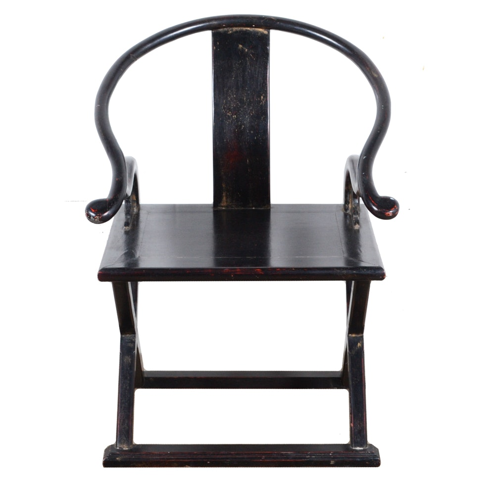 Black Lacquered Chinese Chair