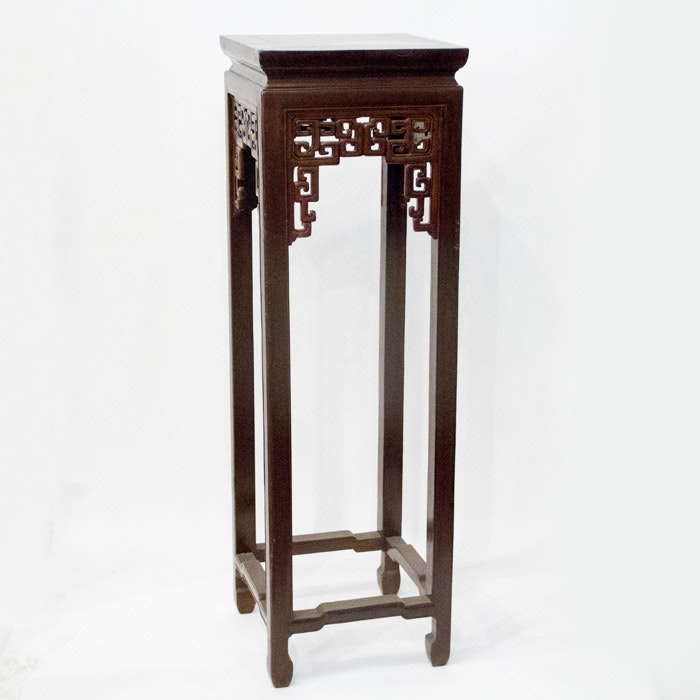 Asian Style Tall Accent Table