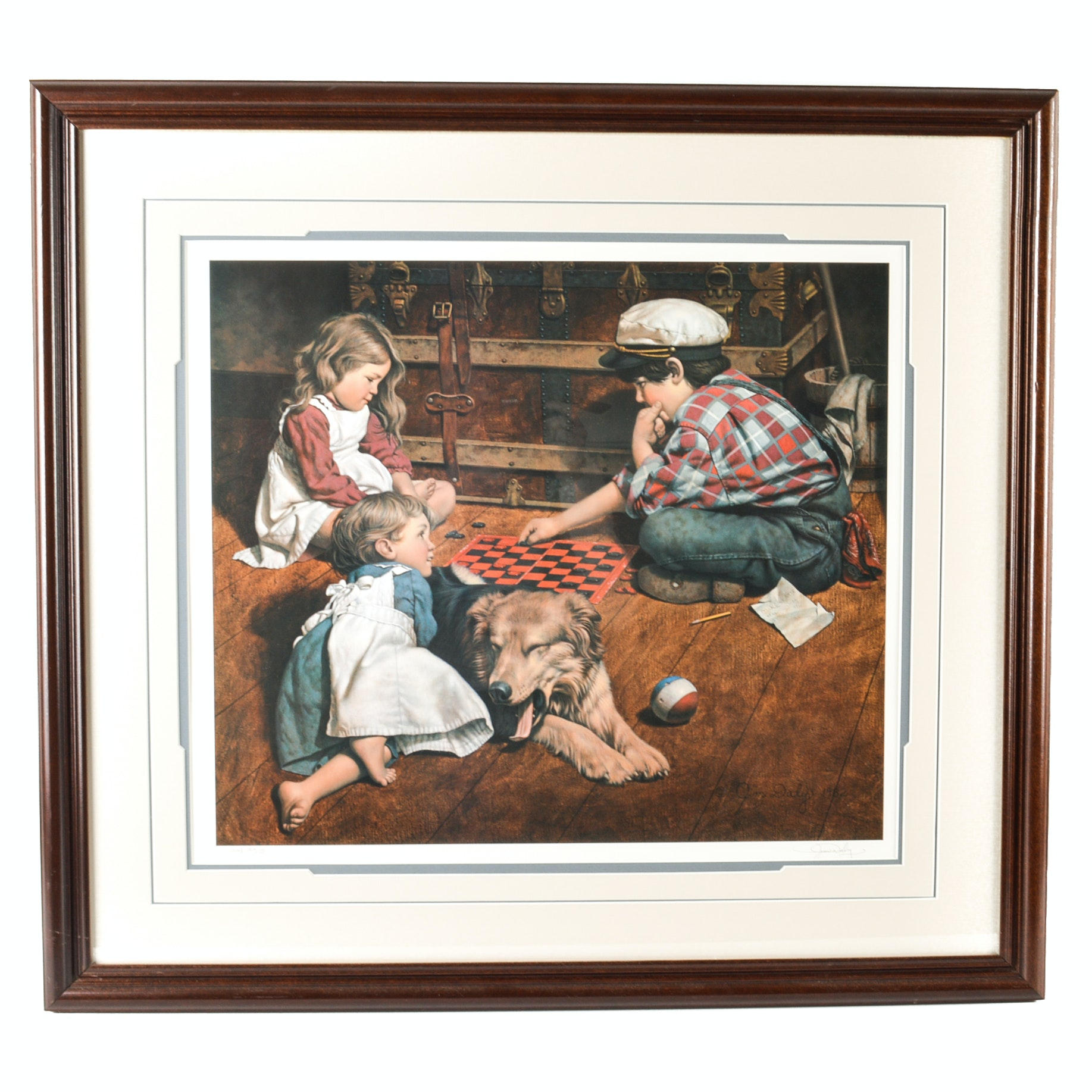 """Jim Daly Signed Limited Edition Offset Lithograph """"Tie Breaker"""""""