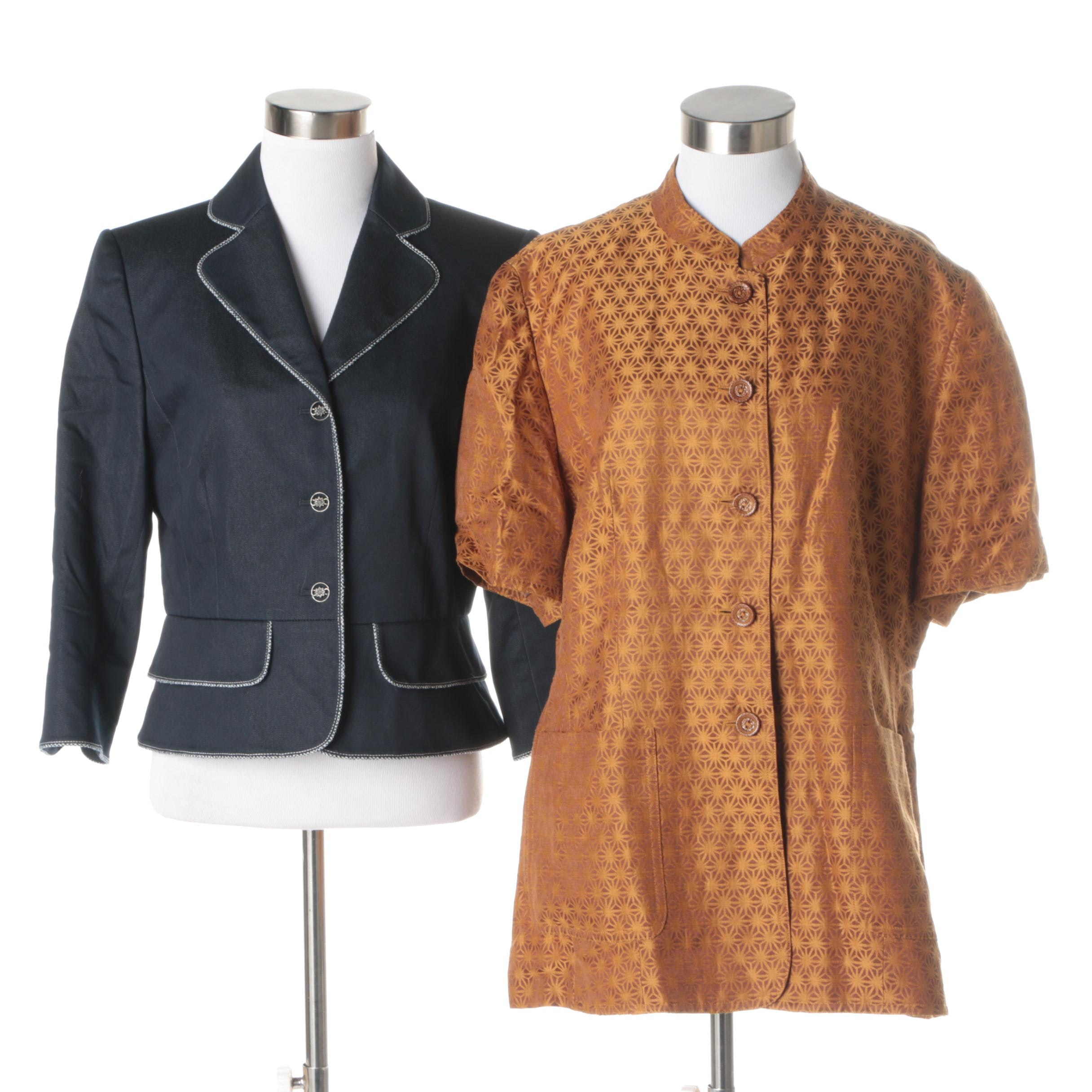 Women's Suit Jacket and Button-Up Shirt Including Escada Margaretha Ley