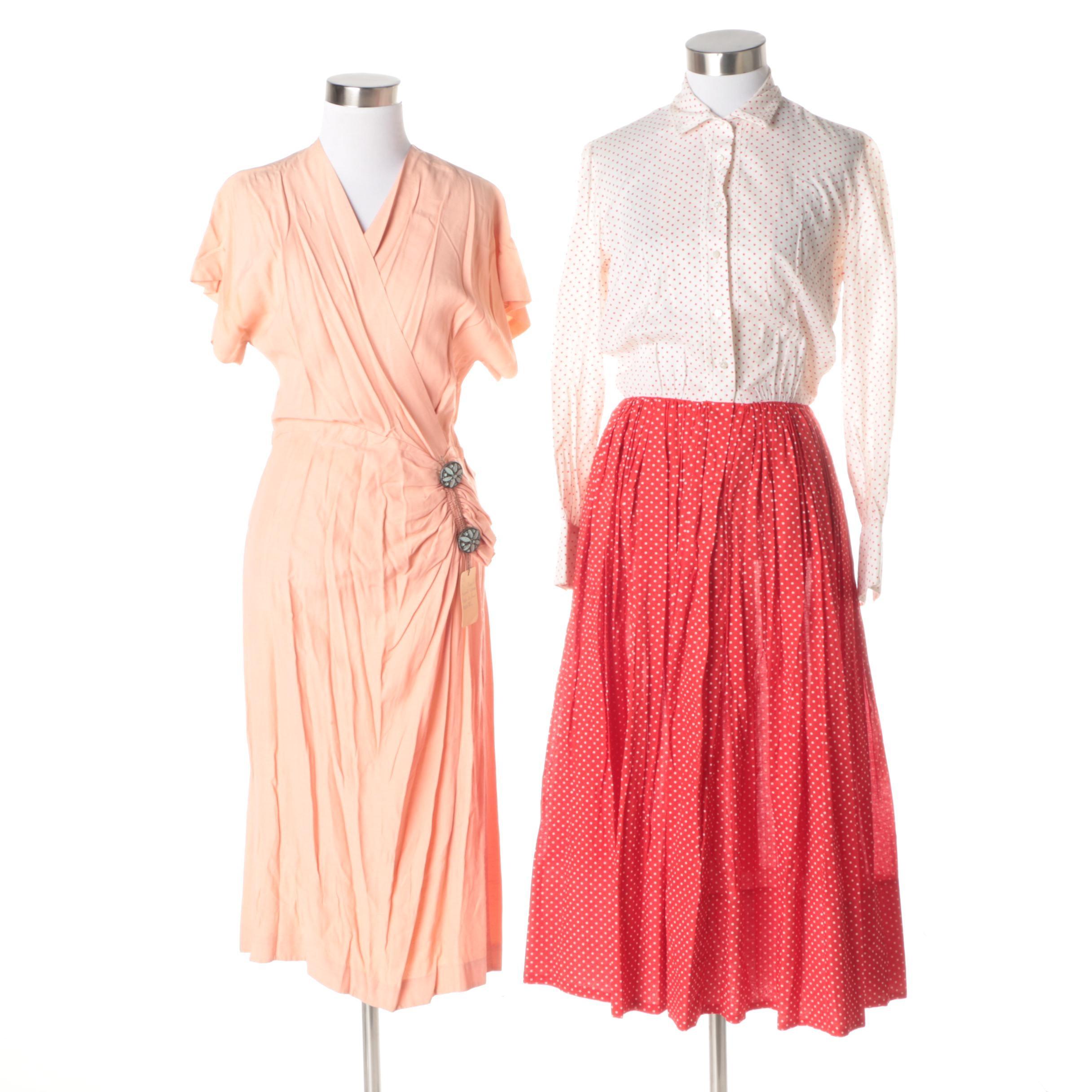Vintage Midi-Length Dresses