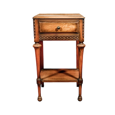 Jacobean Style Accent Table by Tell City Furniture - Online Furniture Auctions Vintage Furniture Auction Antique