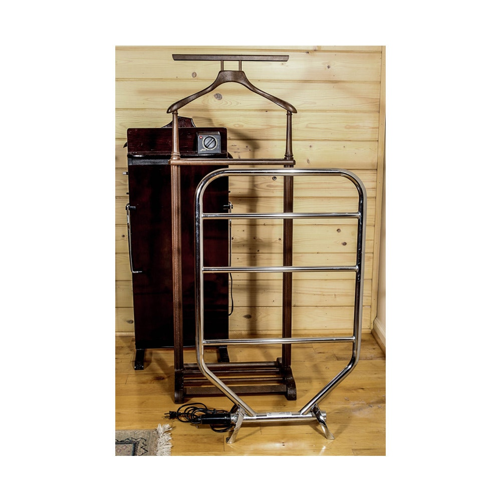 Electric Pants Press Valet Stand And Heated Towel Rack Ebth