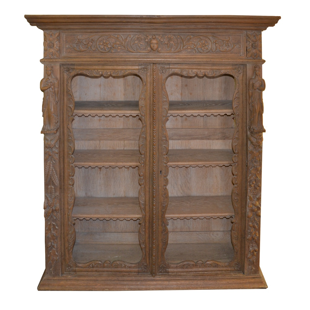 Antique Neoclassical Style Bookcase