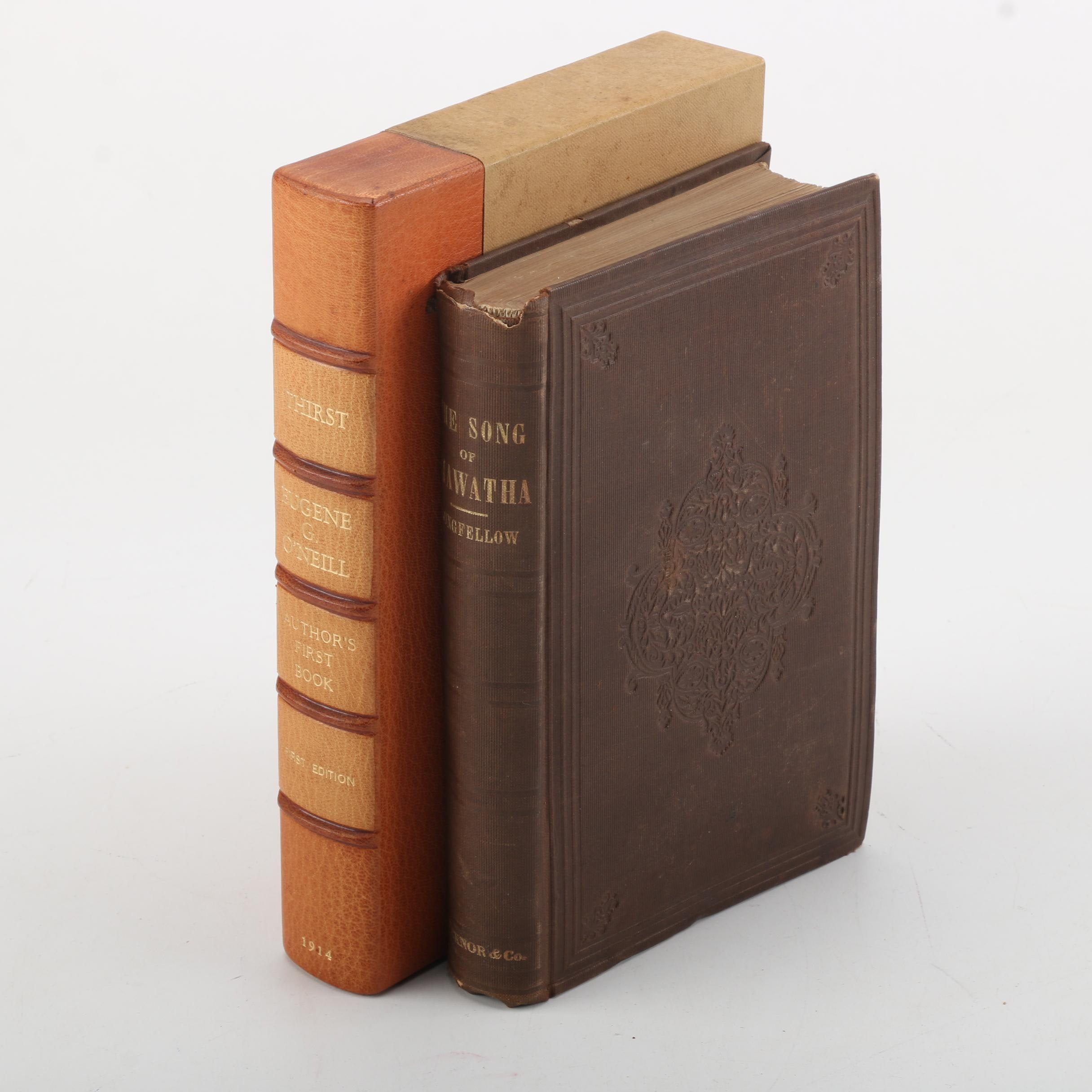 "Pair of First Edition Antique Books Including ""The Song of Hiawatha"""