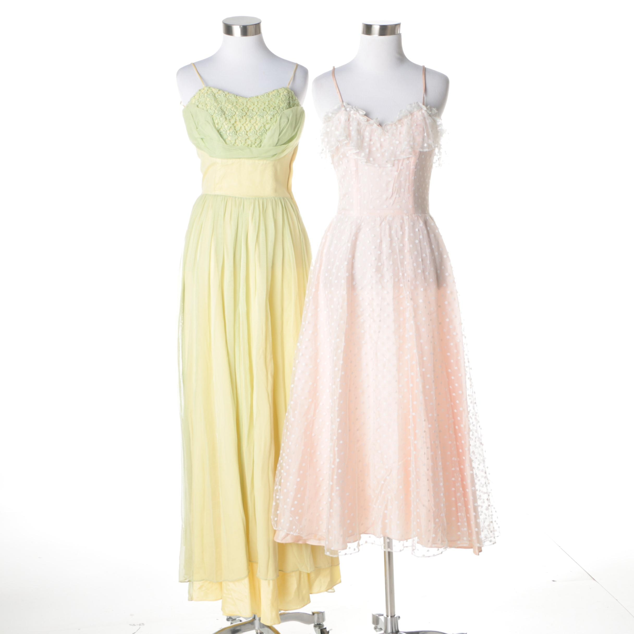 Vintage Sleeveless Party Frocks