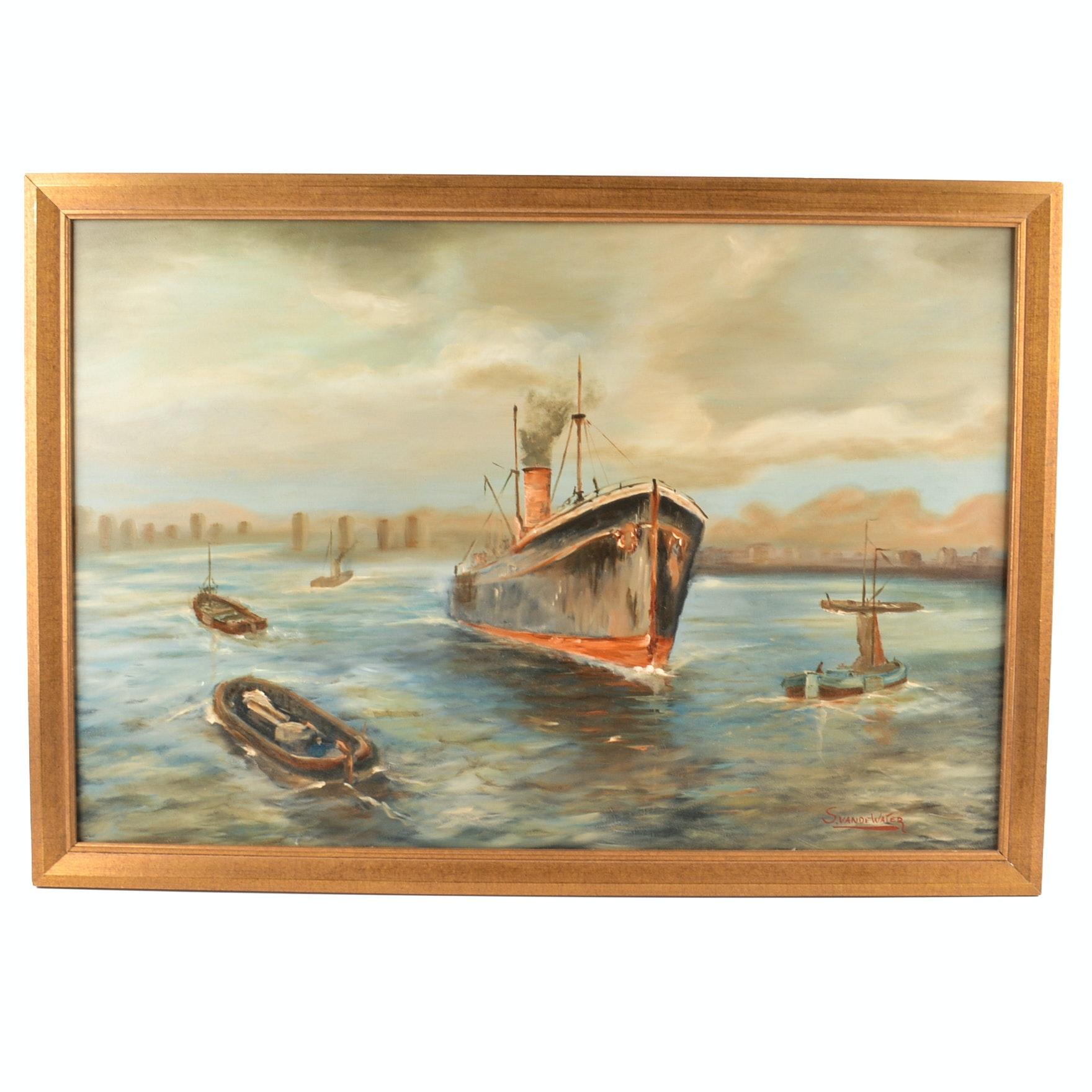Sylvia van de Water Original Oil on Canvas Painting