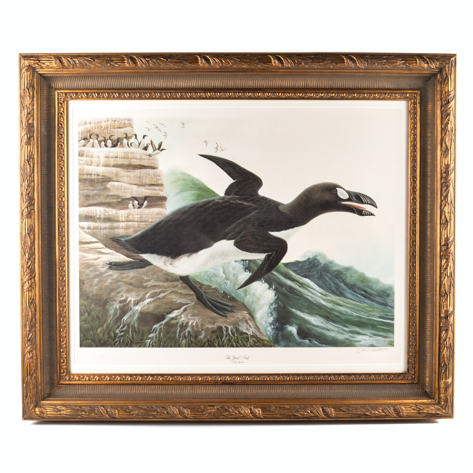 """John A. Ruthven Signed Limited Edition Offset Lithograph """"The Great Auk"""""""