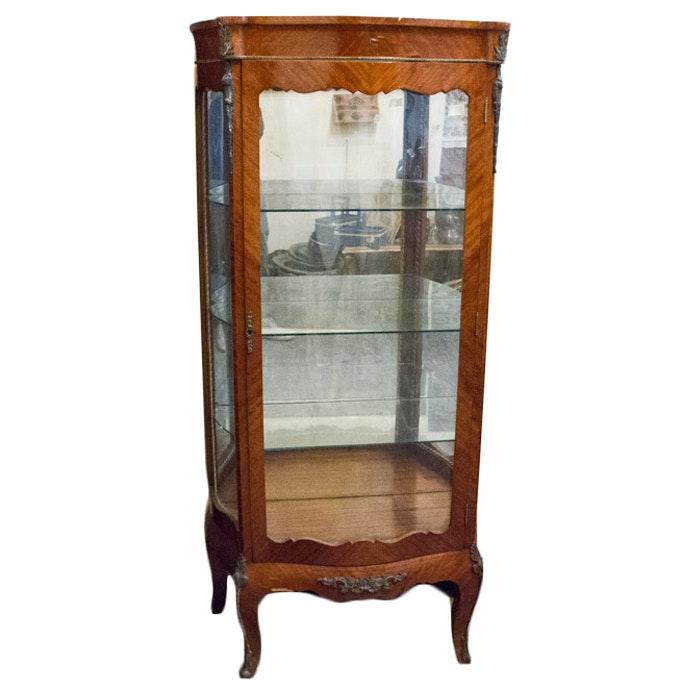 Vintage Louis XV Style Curio Cabinet