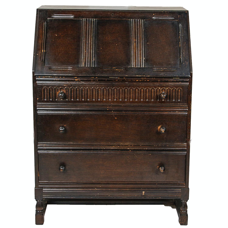 Antique Victorian Walnut Secretary