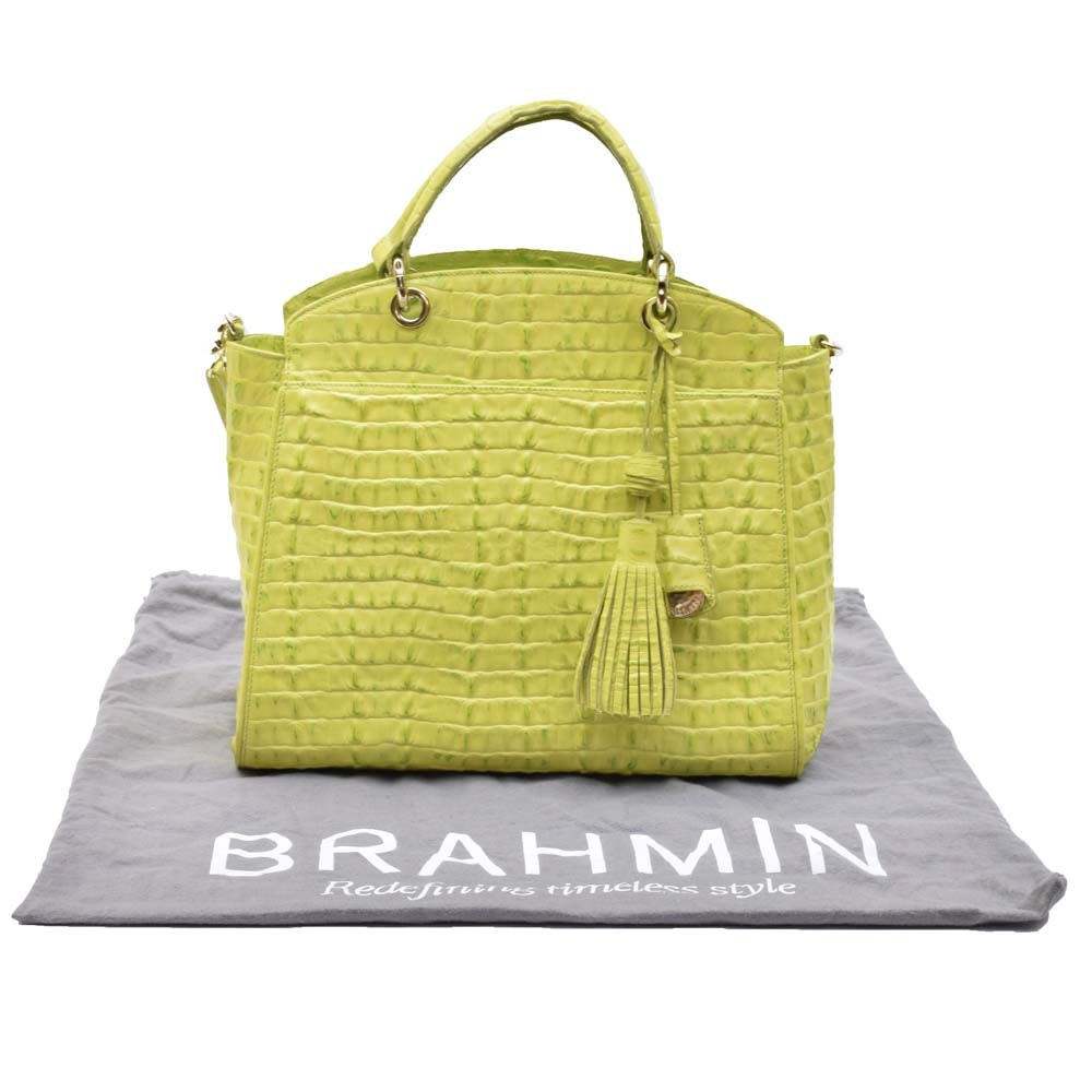 Brahmin Duxbury La Strada Chartreuse Leather Tote