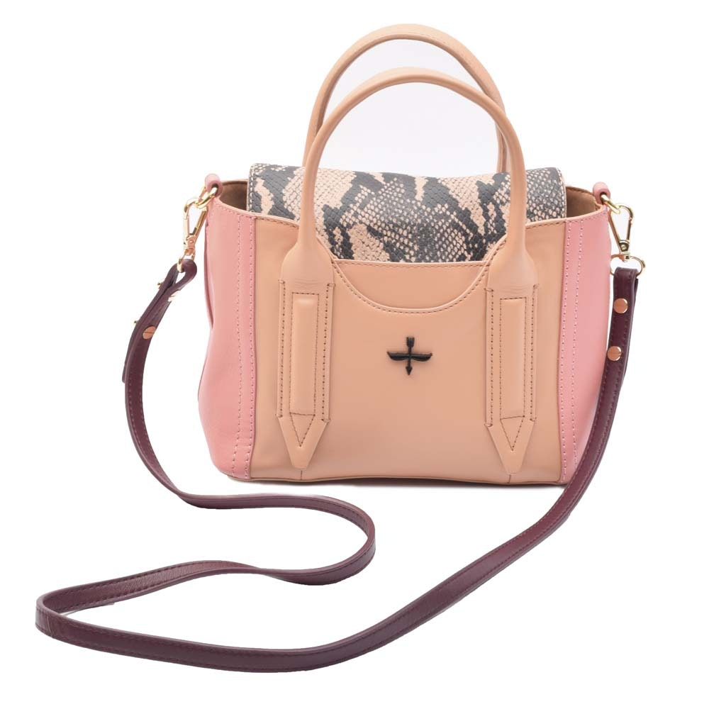 Pour La Victoire Provence Mini Colorblock Leather Satchel