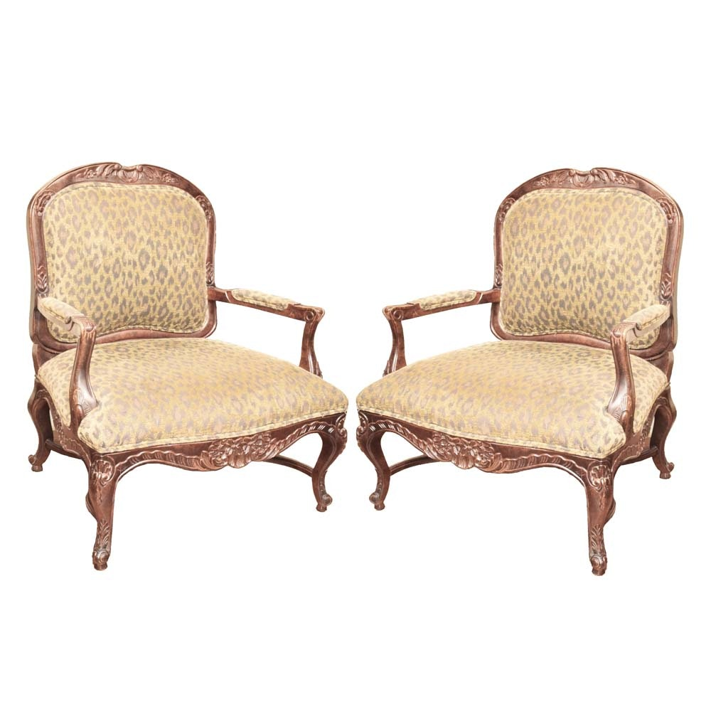 Louis XV Style Fauteuil Chairs