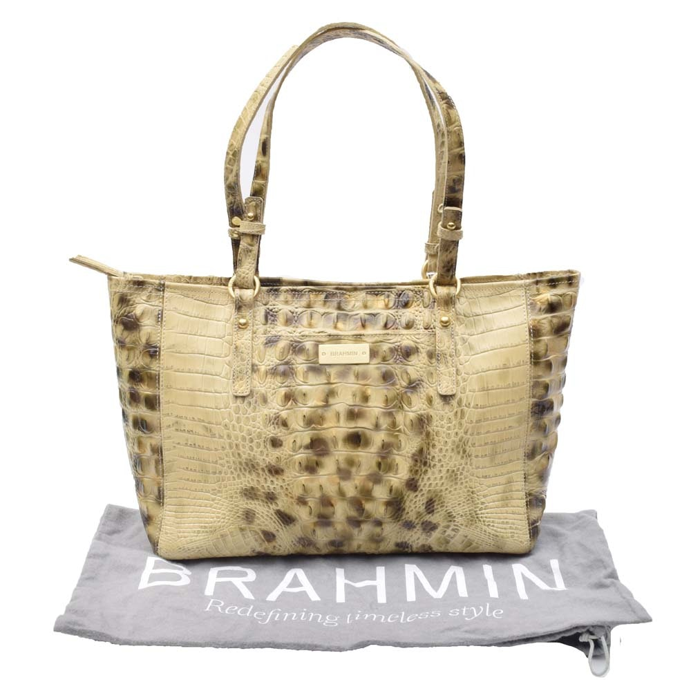 Brahmin Asher Crocodile Embossed Tote