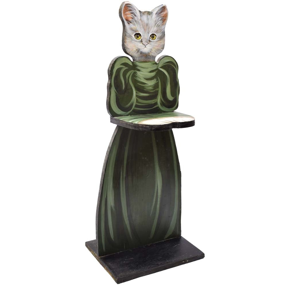 Terry Couch Hand Painted Cat Butler Table