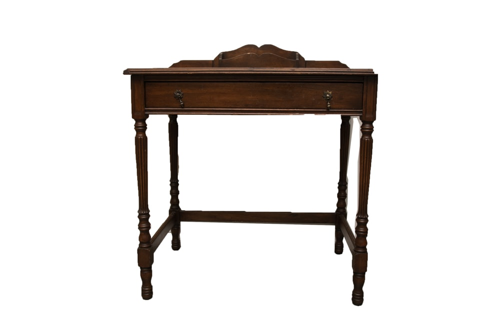 Antique Victorian Walnut Entry Table