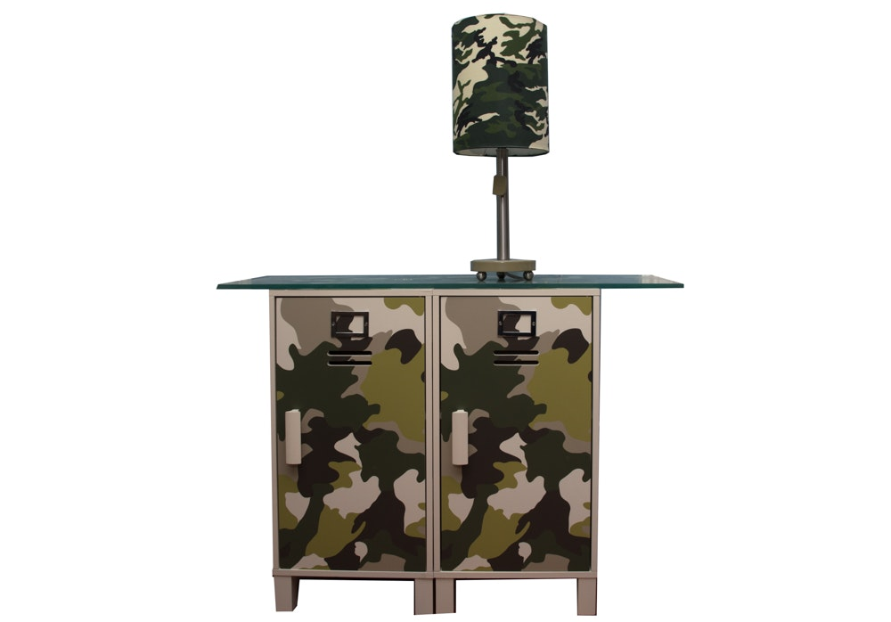 Camouflage Table and Lamp
