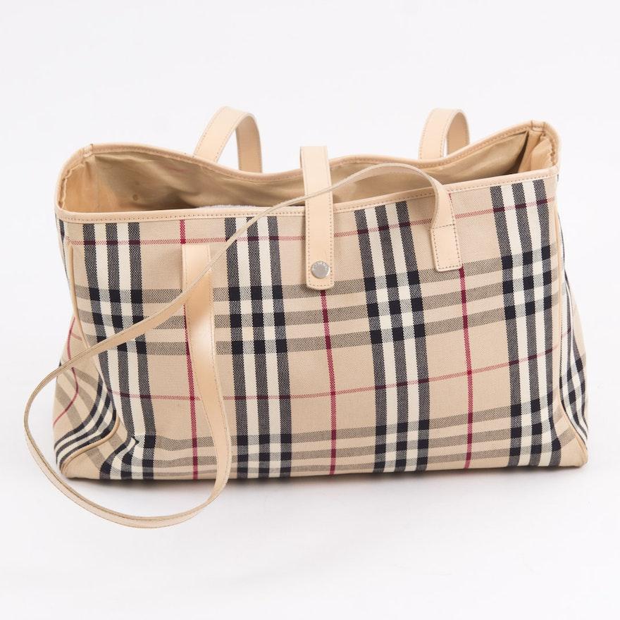 Burberry London Nova Check Tote Bag   EBTH bef1b6a558fdf