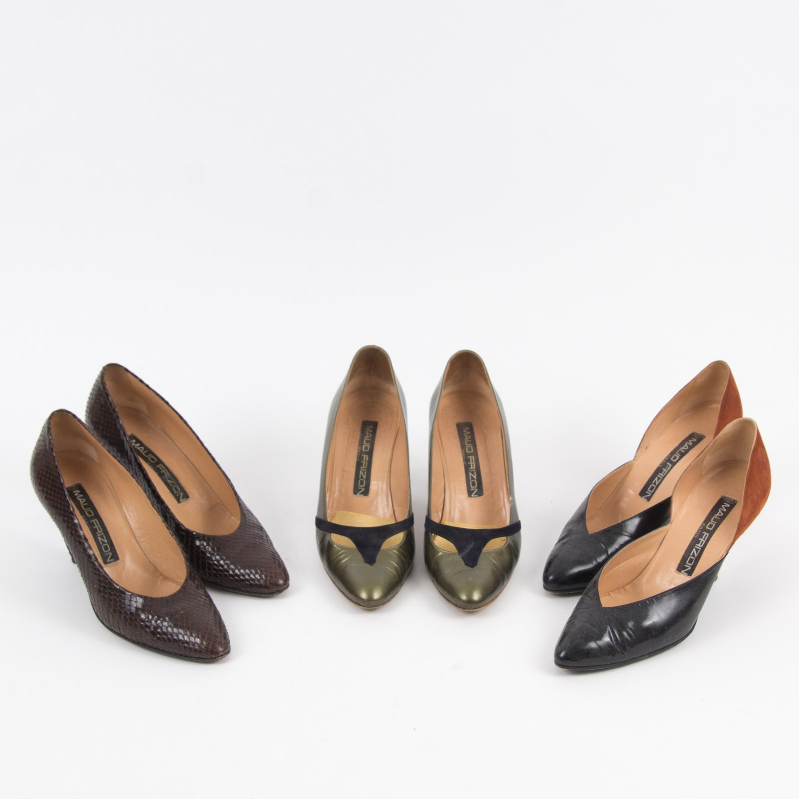 Three Pairs of Maud Frizon Designer Heels