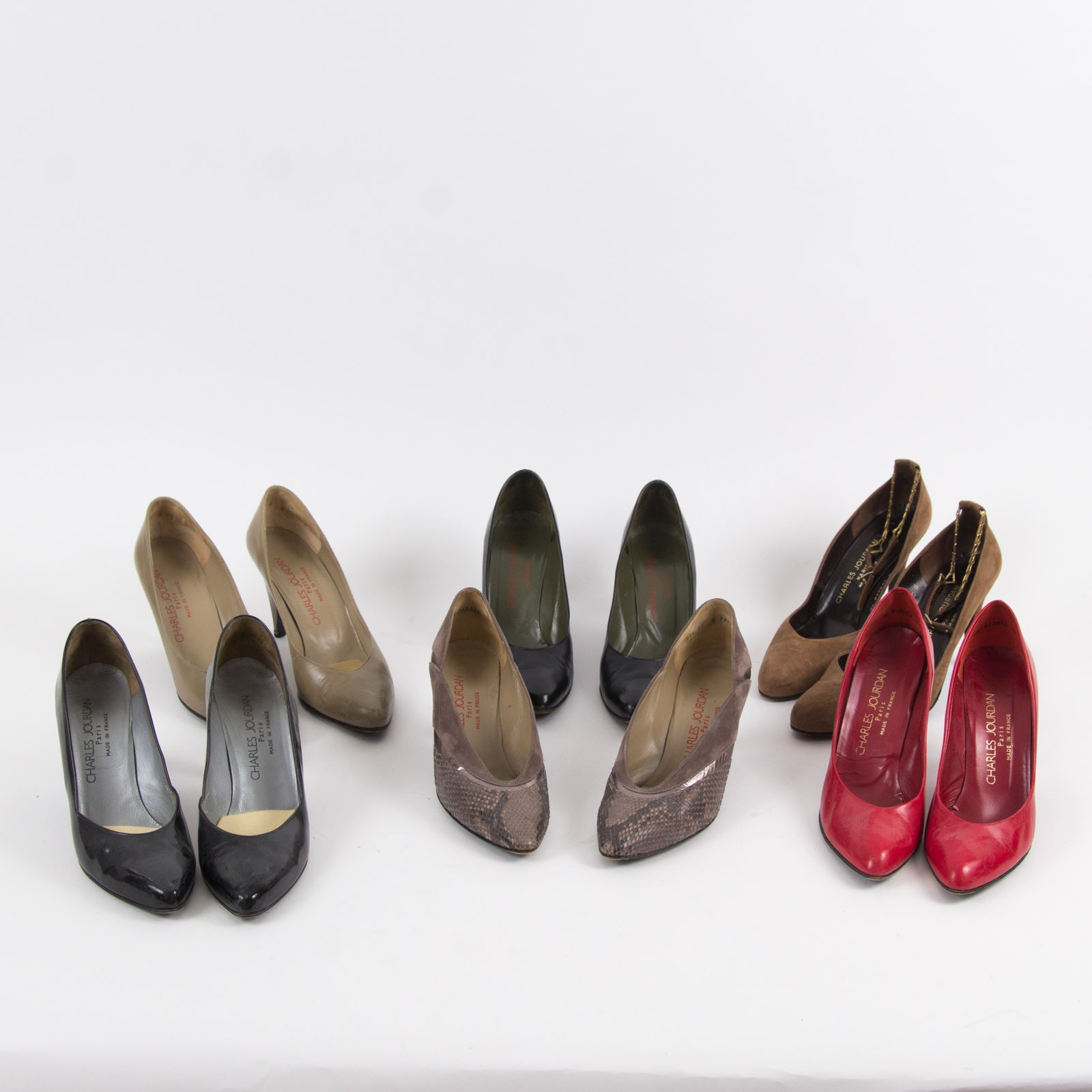 Six Pairs of Charles Jourdan Pumps