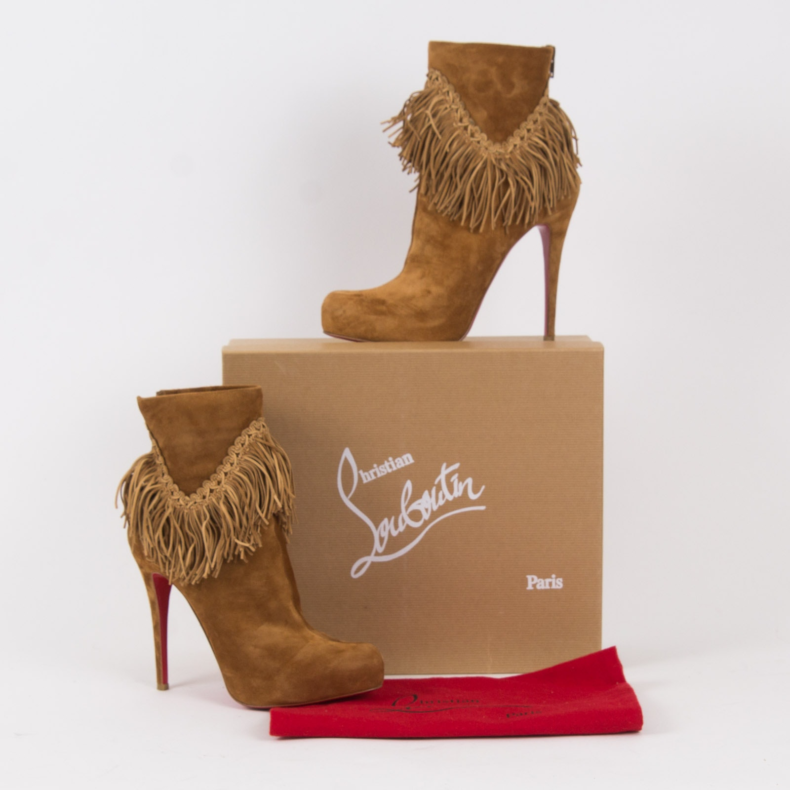 Christian Louboutin Suede Royal Ankle Boots
