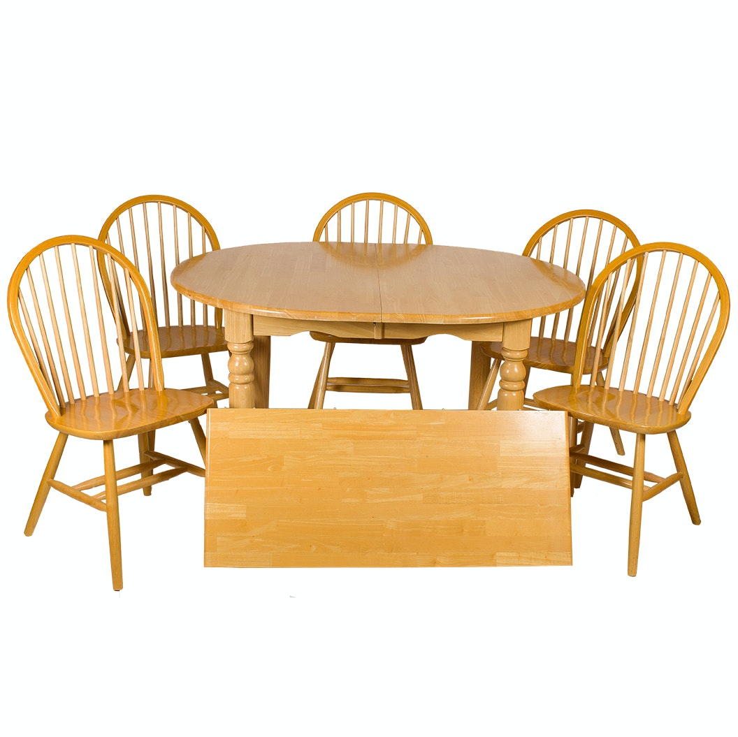 Dining Table and Five Windsor Chairs