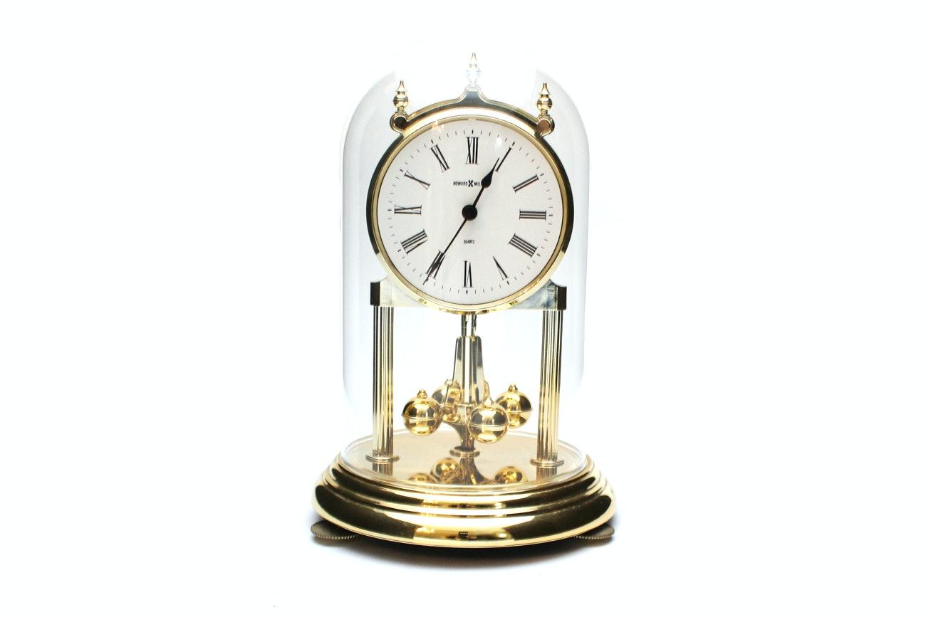Howard Miller Domed Brass Clock