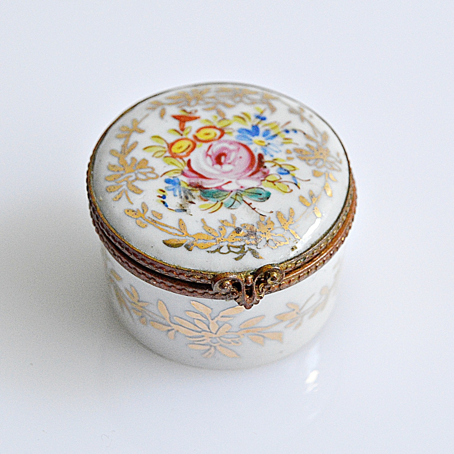 Antique French Porcelain Snuff Box