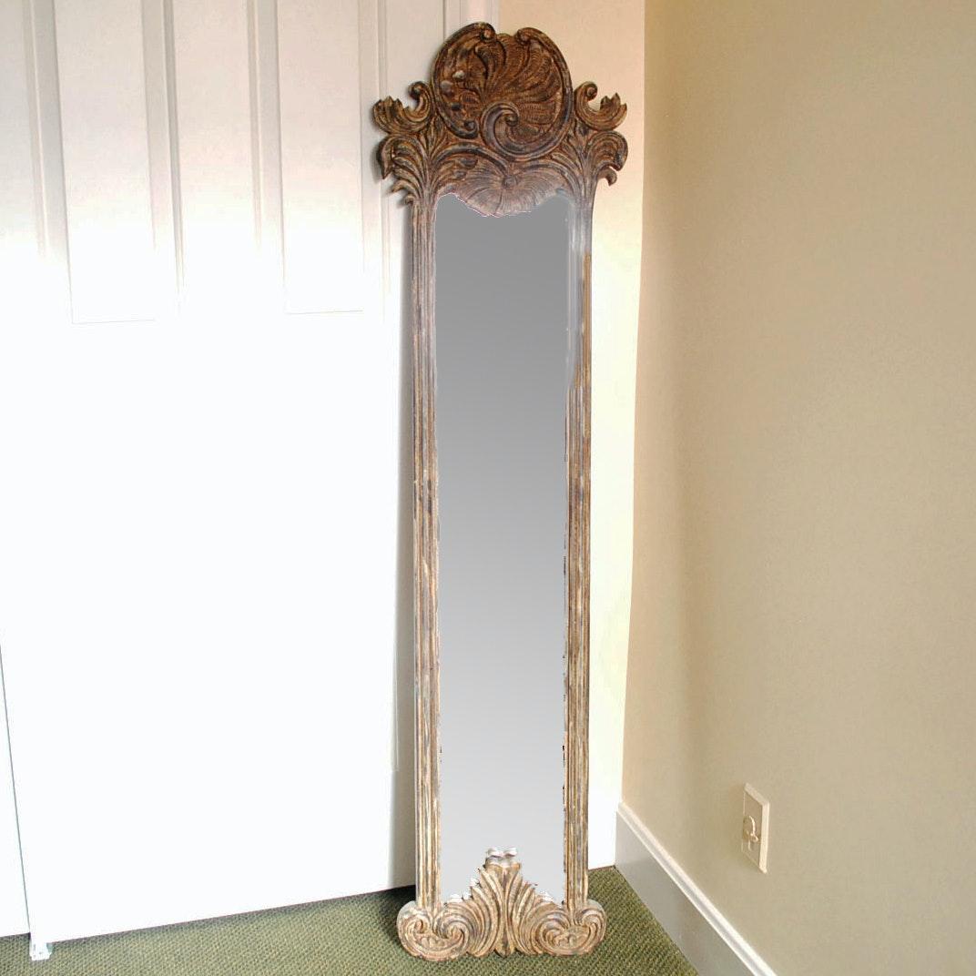 Ornately Framed Contemporary Wall Mirror