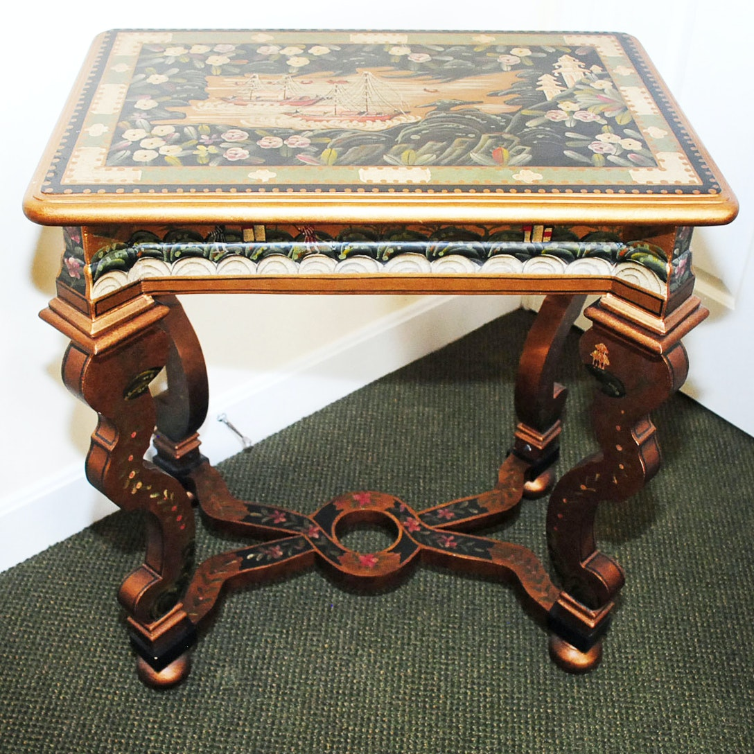 Hand Painted Italian Style Table