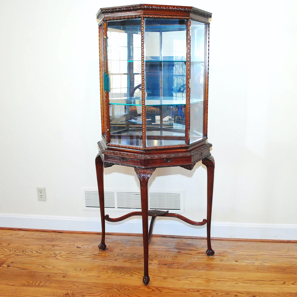 Late 20th Century Georgian Style Vitrine Cabinet
