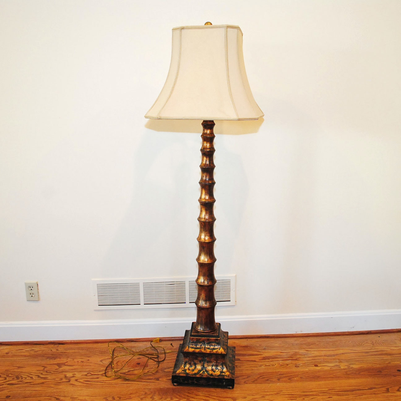 Gold-Tone Floor Lamp