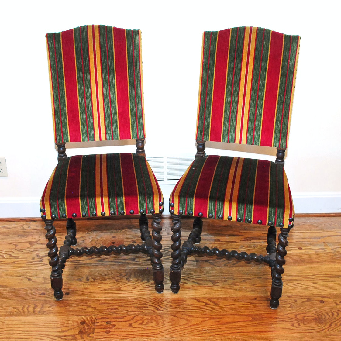 Pair of English Revival Style Accent Chairs