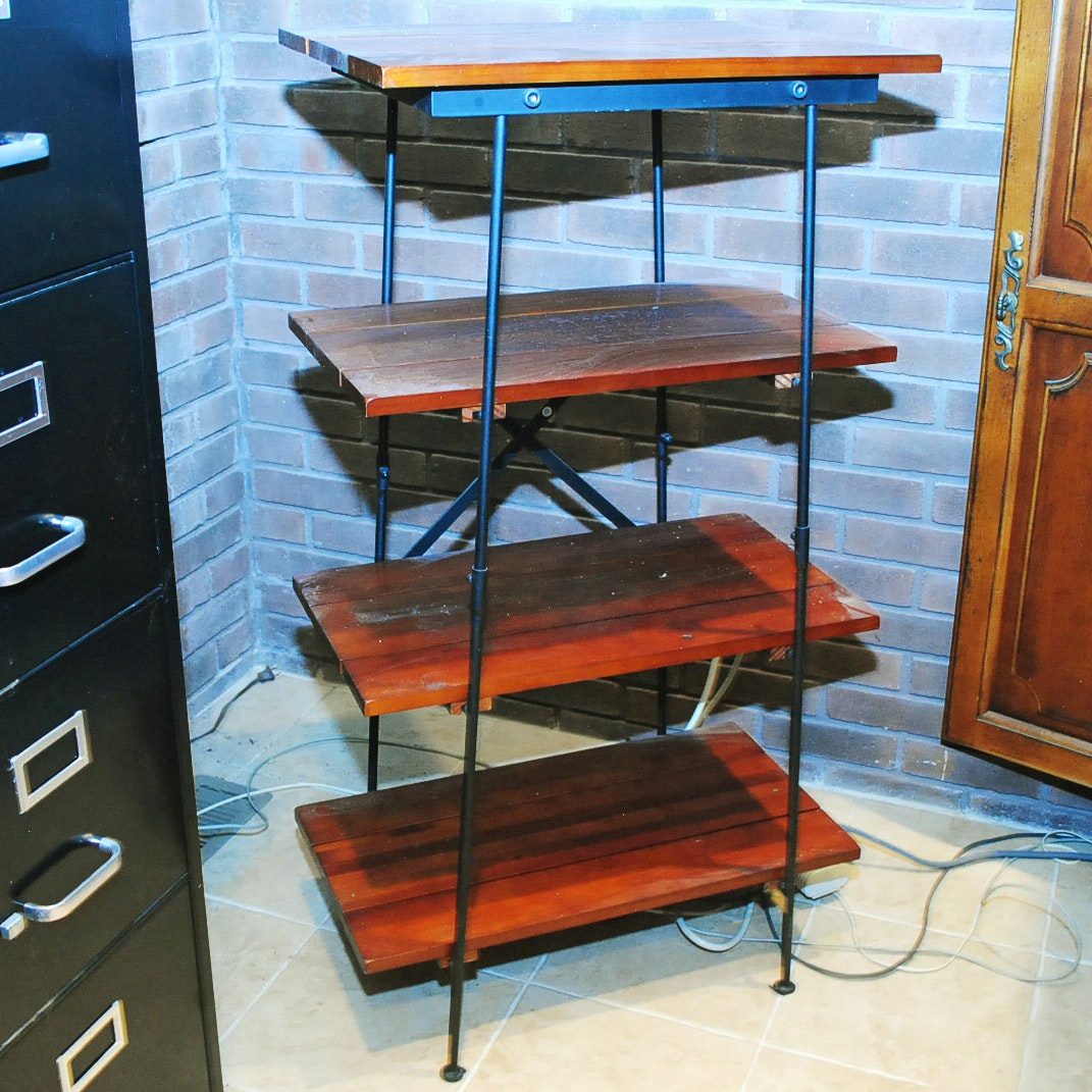 Modern Style Tiered Open Shelving Unit