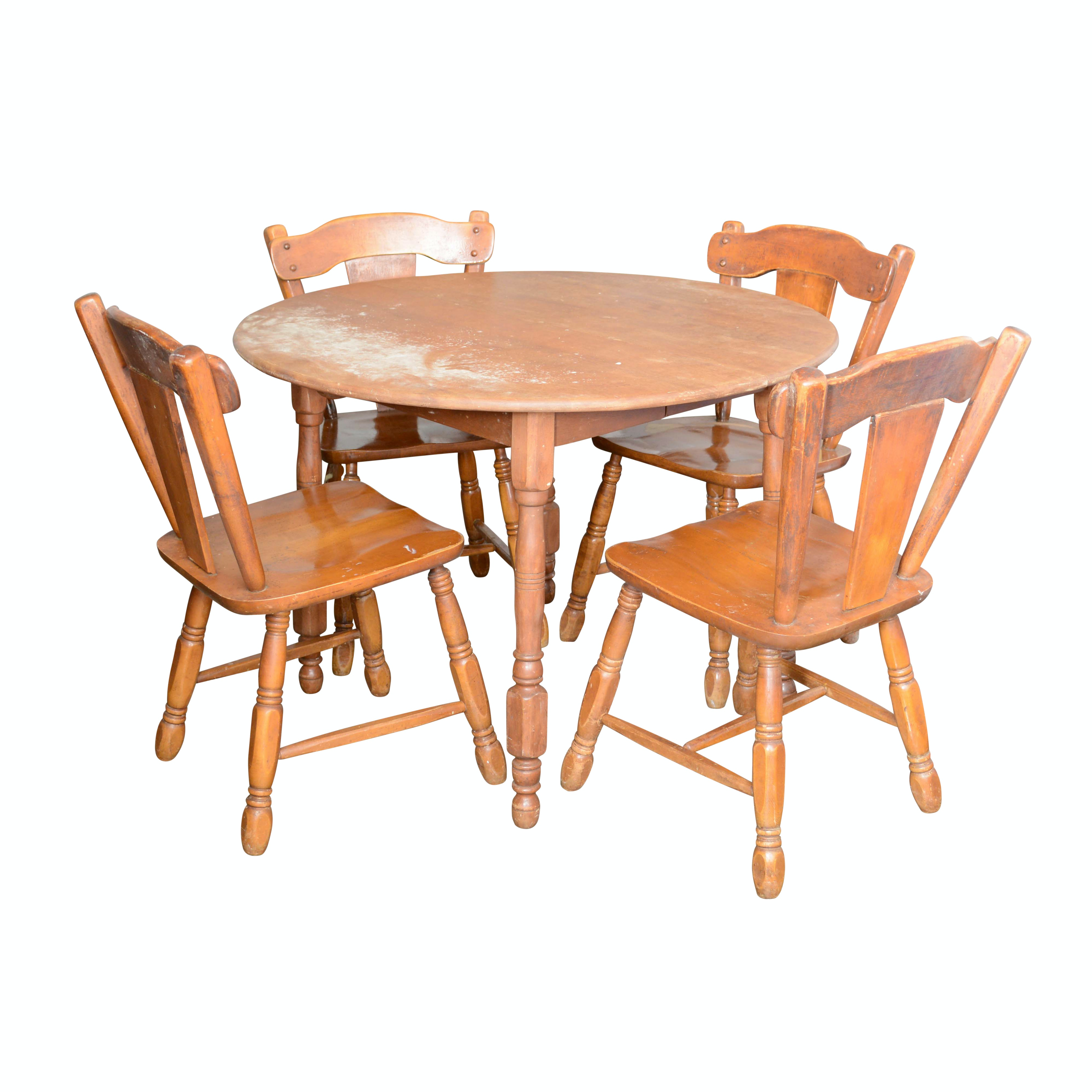 Colonial Style Maple Dining Set from Moosehead of Monson, Maine