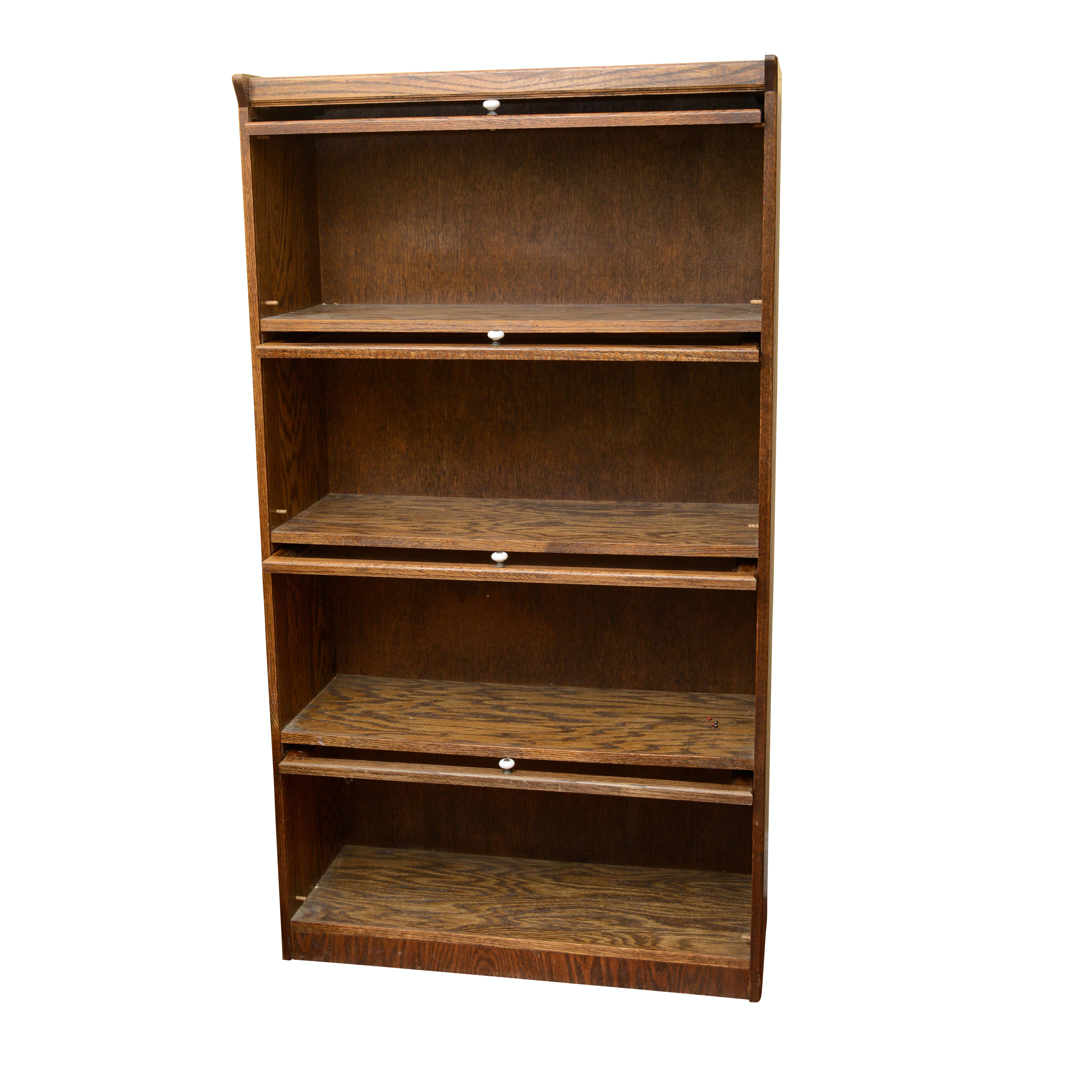 Oak Barrister Style Bookcase