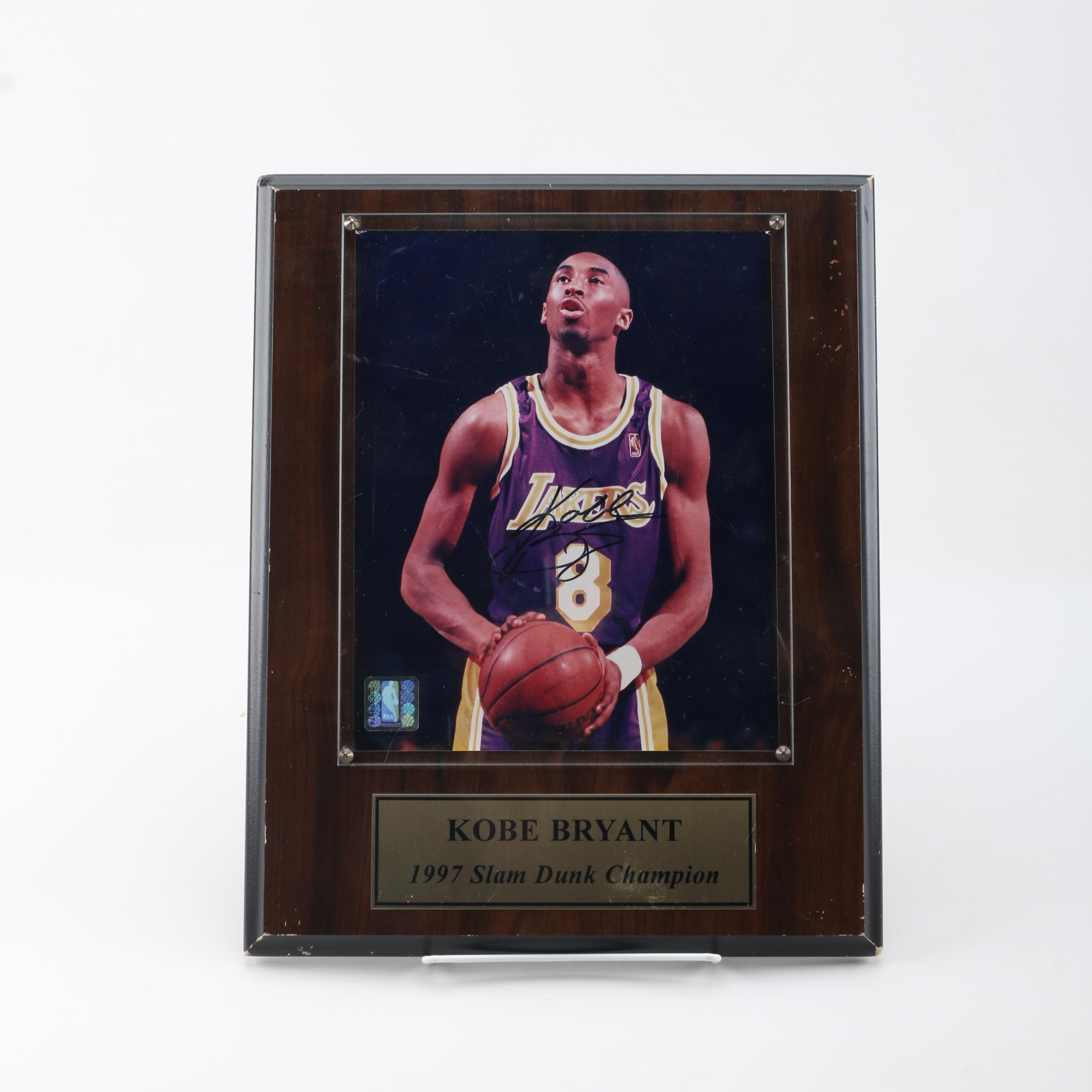 """1997 Slam Dunk Champion"" Autographed Kobe Bryant Photograph"