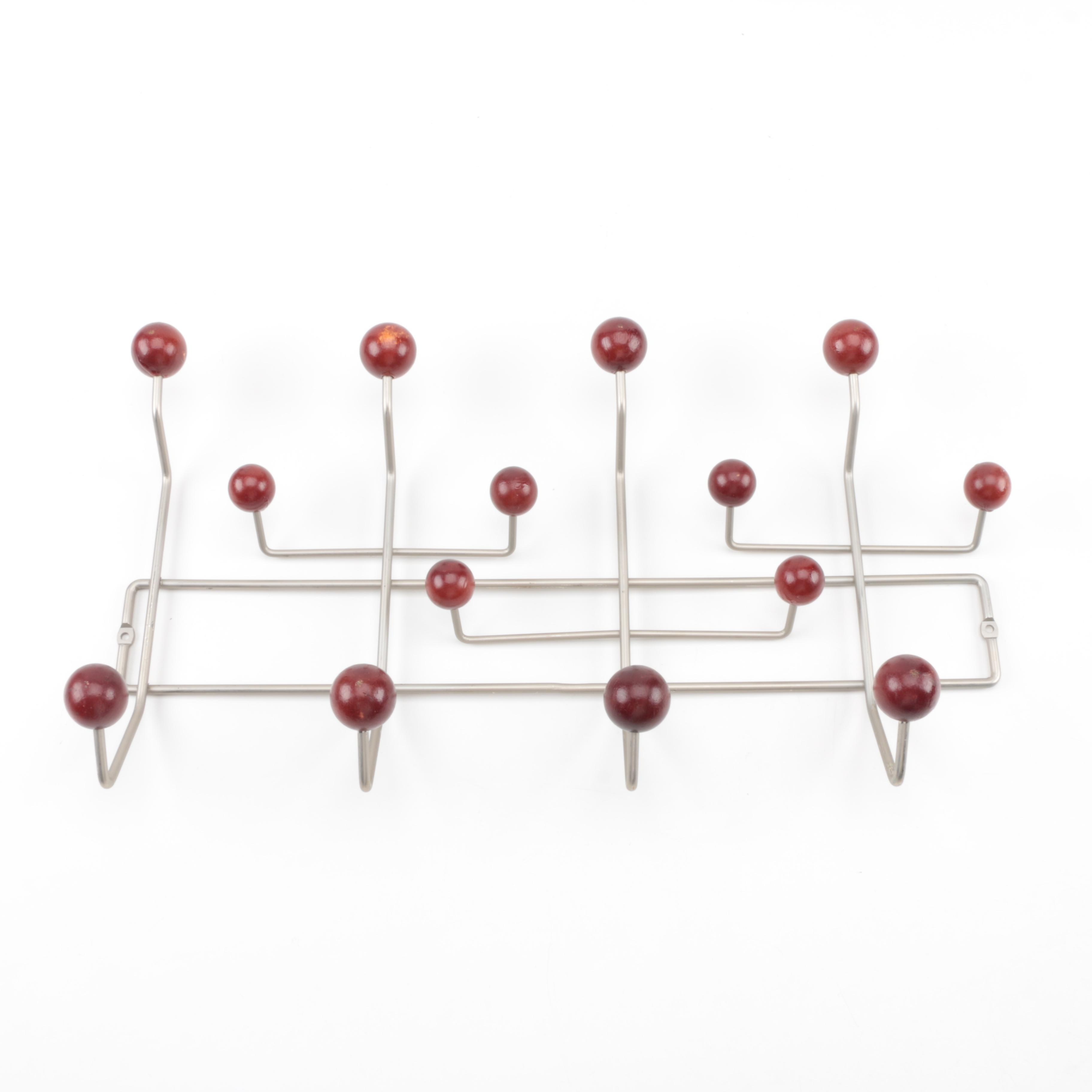 Eames Style Metal Wall Coat Rack